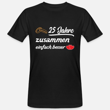 Silver Wedding Anniversary 25 years married - silver wedding - Men's Organic T-Shirt