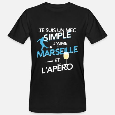 Foot Marseille Foot Marseille - un mec simple - T-shirt bio Homme