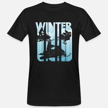 Snowmobile Vintage Winter Snowmobile. Sport presenter. jul - Ekologisk T-shirt herr