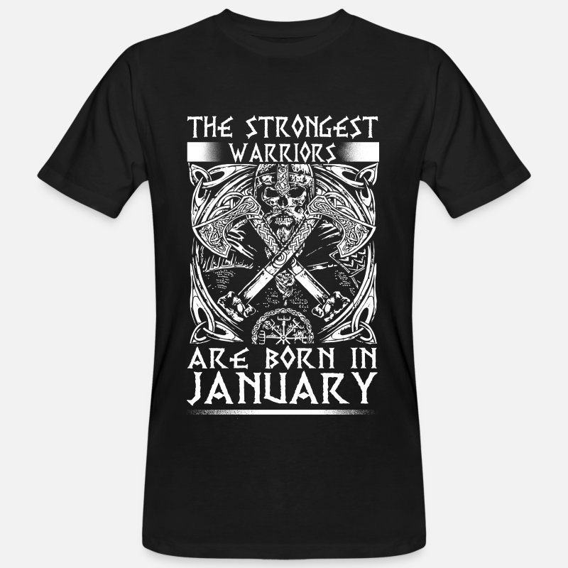 Birthday T-Shirts - January - Viking - birthday - EN - Men's Organic T-Shirt black