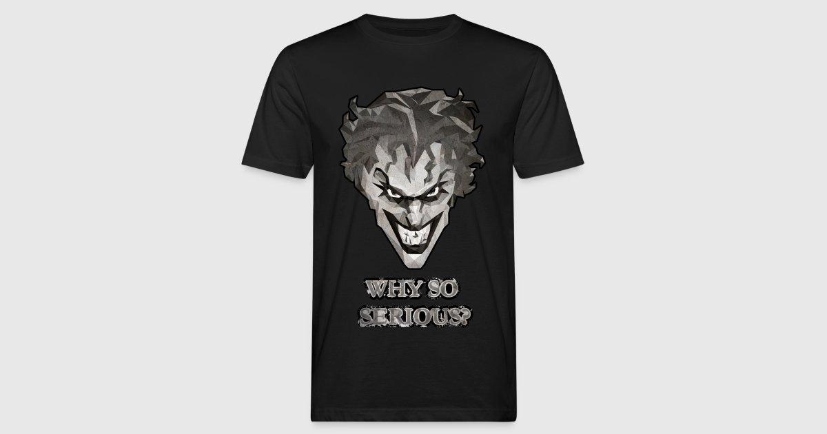 Joker why so serious m nner t shirt von batman spreadshirt for Two color shirt design