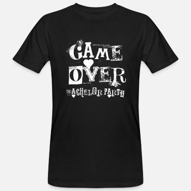 Bachelor Party SPEL OVER BACHELOR Party JGA Gifts Party-shirt - Mannen Bio-T-shirt