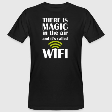 WiFi Magic-Nerd paita - Magic in the Air - Miesten luonnonmukainen t-paita