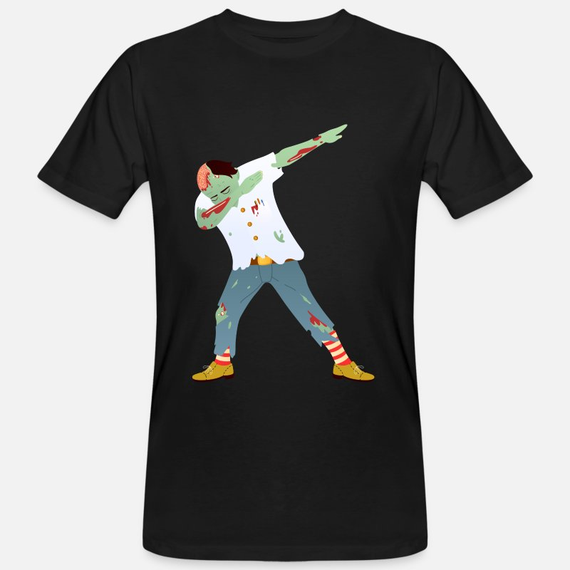 Sour T-Shirts - Dab Dance Zombie - Dabbing Halloween Design - Men's Organic T-Shirt black