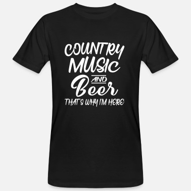 Country Country Music and Beer - Ekologisk T-shirt herr