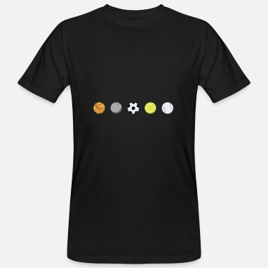 Sports Lover Ball sports diversity lovers - Men's Organic T-Shirt