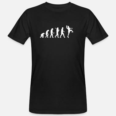 Handbal Evolution Handball! Sports! Handbal grappig! - Mannen Bio-T-shirt