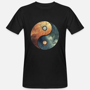 Gong Vintage yin yang elements sign icons galaxy - Men's Organic T-Shirt