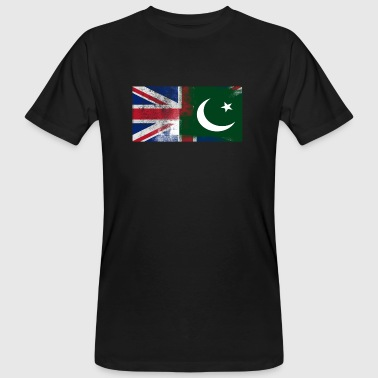 British Pakistani Half Pakistan Half UK Flag - Men's Organic T-Shirt