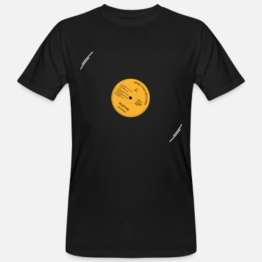 Record Label Play Vinyl (oranje label) - Mannen Bio-T-shirt