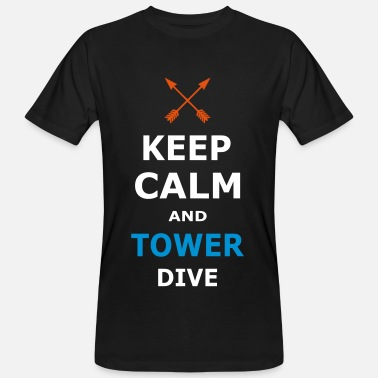 Keep Calm And Dive On KEEP CALM AND TOWER DIVE - Men's Organic T-Shirt