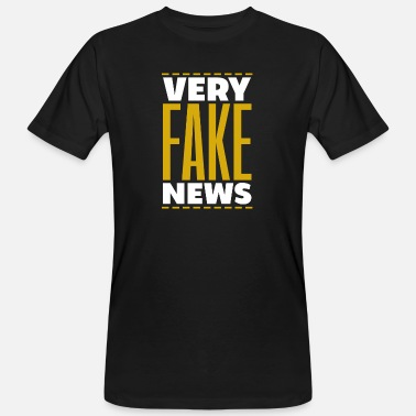New Media False Fake News Media News Gift - Men's Organic T-Shirt