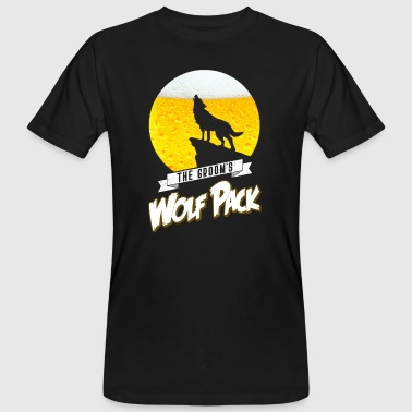 The Grooms Wolf Pack JGA BAchelor Party Bier Wolf - T-shirt bio Homme
