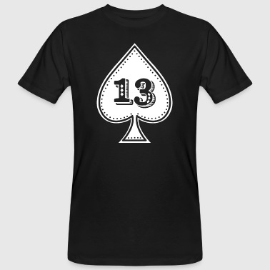 Icon Hip Hop Ace of spades with number 13 - Rock and roll hip hop - Men's Organic T-Shirt
