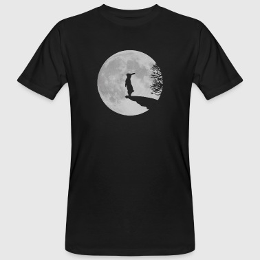 Wolfinchen rabbit bunny bunnies hare jackass moon werewolf fullmoon ledge - Men's Organic T-Shirt