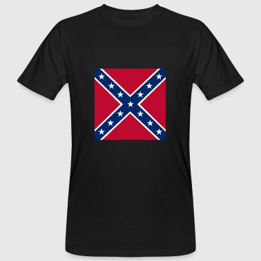 Confederate Flag Battle flag of the Confederate States of America - Männer Bio-T-Shirt