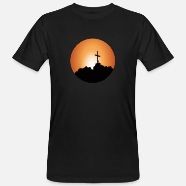 Illustration Image Cross paysage montagnes illustration de l'image - T-shirt bio Homme
