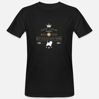 West Highland White Terrier West Highland White Terrier Shirt - Organic mænd