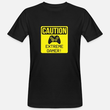 Extreme Warning - Extreme Gamer Zocker Video Game Fan - Men's Organic T-Shirt