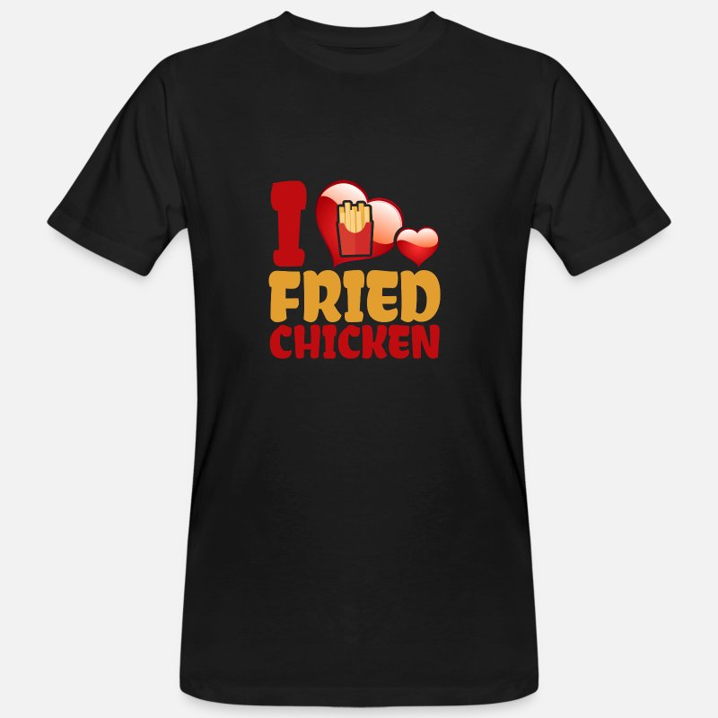 Chicken T-Shirts - I Love Fried Chicken - Men's Organic T-Shirt black