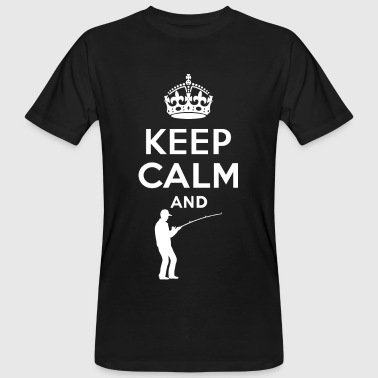 Keep calm - fishing - fishing - Men's Organic T-Shirt