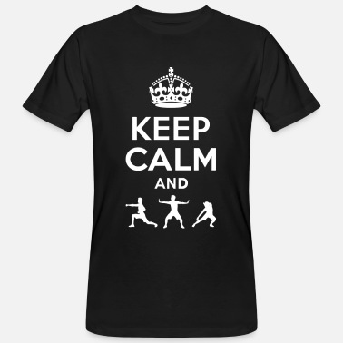 Taoism Tai Chi Keep Calm - Tai Chi - Men's Organic T-Shirt