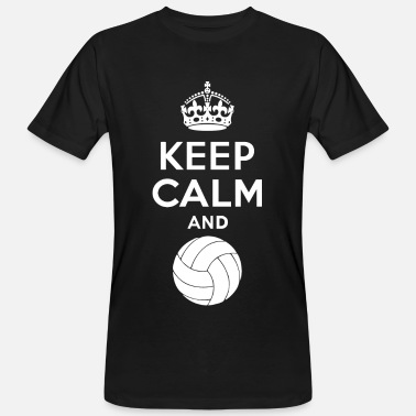 Féminin Keep Calm - Volleyball 2 - T-shirt bio Homme