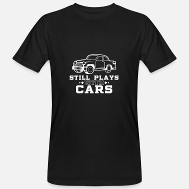 Match Play Still plays with cars - Dad & Son Funny Matching - Men's Organic T-Shirt