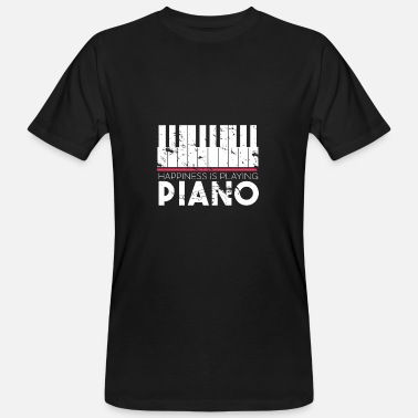 Klavier Happiness is playing Piano Geschenk Klavier - Männer Bio-T-Shirt