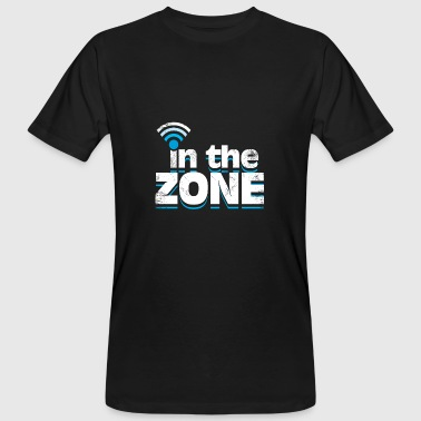 In The Zone Wifi Wlan Empfang in der Zone Spruch - Männer Bio-T-Shirt