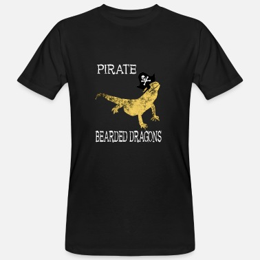 Bearded Collie Pirate Bearded Dragon Pirate Lizards Gifts - Mannen Bio-T-shirt