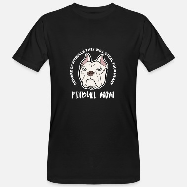 Pit Pitbull mom dogs fighting dog sweet gift - Men's Organic T-Shirt