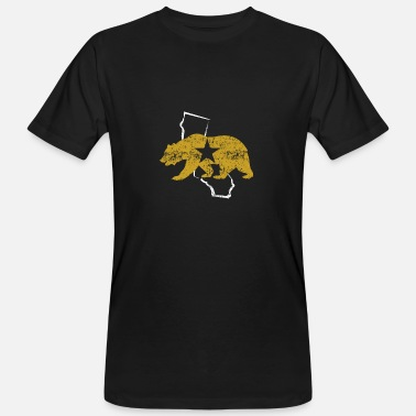 The Golden State California Golden State Bear - Men's Organic T-Shirt
