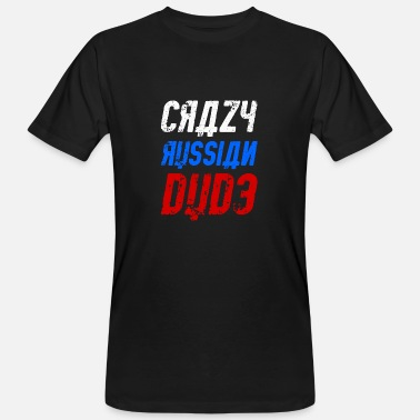 Crazy Crazy Russian dude - Men's Organic T-Shirt