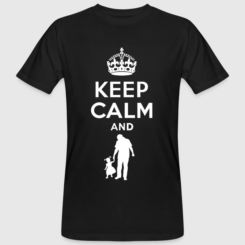 Keep calm - father and daughter - Men's Organic T-shirt