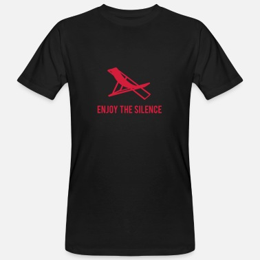 Silence Enjoy the Silence - Männer Bio T-Shirt
