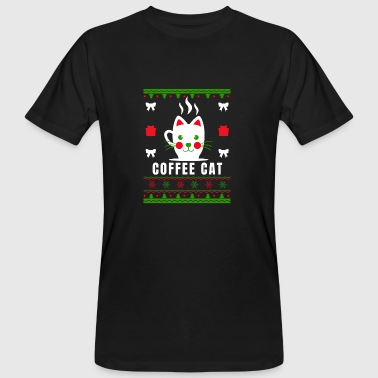 Coffee Cat Gift Christmas Coffee - Ekologisk T-shirt herr