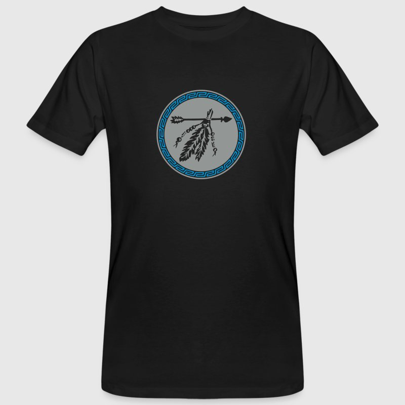 Arrow with feathers, Native American Indian tribes - Men's Organic T-shirt