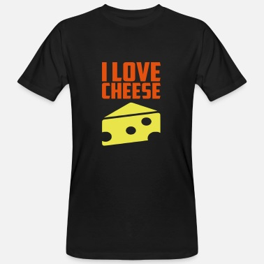 Cheesehead i love cheese - Men's Organic T-Shirt