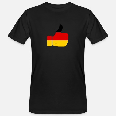 Thumbs Pointing At Me Germany thumbs up! - Men's Organic T-Shirt