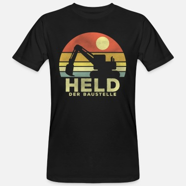 Operator Hero of the construction site - excavator operator excavator operator - Men's Organic T-Shirt