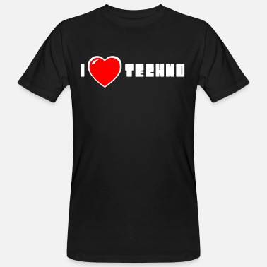 I love Techno - Männer Bio T-Shirt