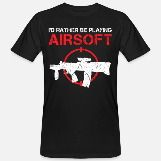 Game T-Shirts - Airsoft funny saying rather softair gift - Men's Organic T-Shirt black
