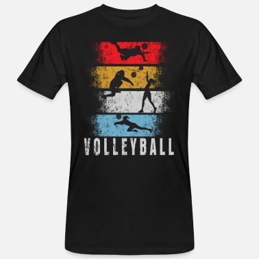 Volleyballer Volleyball Retro Volleyballcoach - Männer Bio T-Shirt