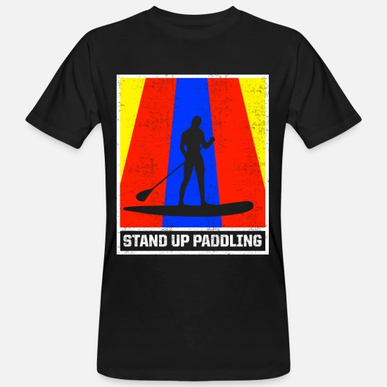 Stand T-Shirts - Stand up paddling - Men's Organic T-Shirt black
