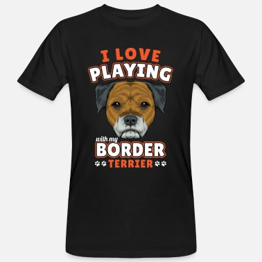 Borderlands Border Terrier - Økologisk T-skjorte for menn