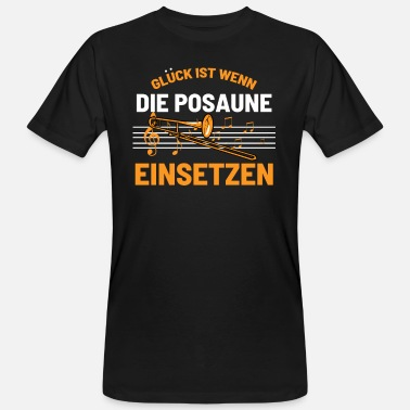 Messing Posaune - Männer Bio T-Shirt
