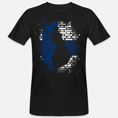 Finland flag wall bricks - Men's Organic T-Shirt