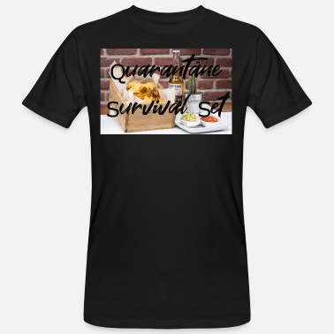 Quarantäne Survival Set - Männer Bio T-Shirt