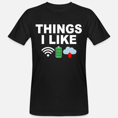 Things i like, WIFI, battery, cloud - Men's Organic T-Shirt
